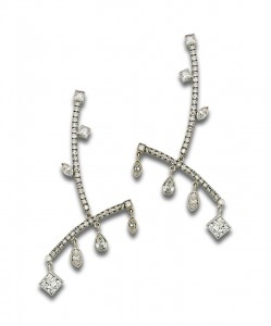 (2) Diamond Dangle Earrings