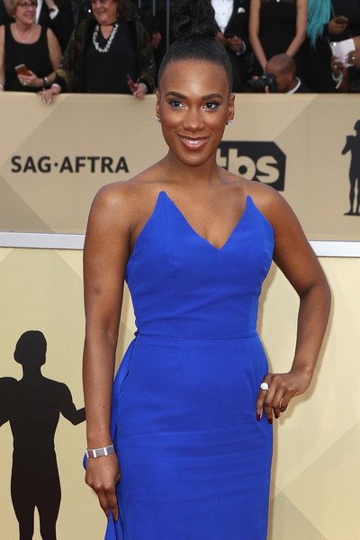 LOS ANGELES, CA - JANUARY 21: Actress Vicky Jeudy attends The 24rd Annual Screen Actors Guild Awards at The Shrine Auditorium on January 21, 2018 in Los Angeles, California. ( )