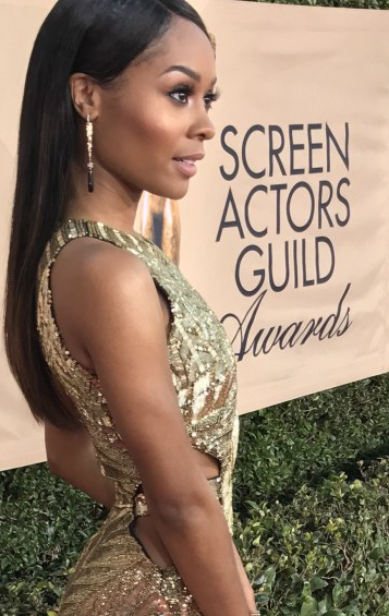 LOS ANGELES, CA - JANUARY 21: E! News co-anchor Zuri Hall attends The 24th Annual Screen Actors Guild Awards at The Shrine Auditorium on January 21, 2018 in Los Angeles, California. 25650_015 ()