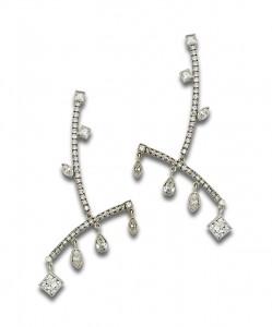 (2) Diamond Dangle Earrings